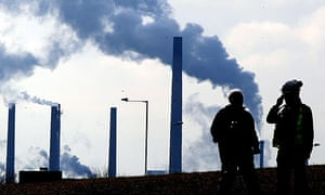 The Corus steelworks in Redcar