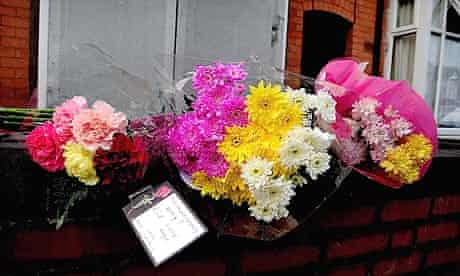 Flowers outside the home of Khyra Ishaq