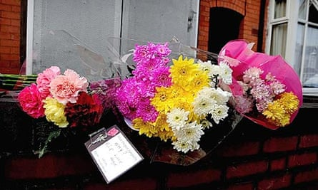 Flowers outside the home of Khyra Ishaq