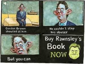 26.02.10: Steve Bell on Andrew Rawnsley's allegations of verbal abuse by Gordon Brown