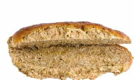 Onion seed hotdog roll