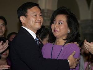 Thaksin Shinawatra: 4 April 2006: Thaksin Shinawatra after he announced his resignation