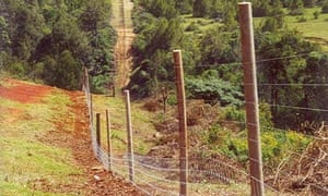 250 mile long electrified fence just completed around the Aberdare mountain range in Kenya