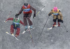 eyewitness: women's ski cross finals at the Vancouver Winter Olympics
