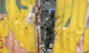 An Indian peacekeeper from United Nations Mission in the Democratic Republic of Congo (MONUC)