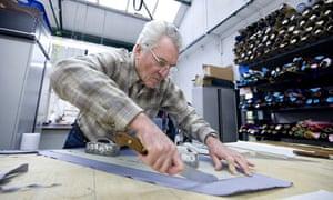 Michael Drake has been making silk ties since 1977