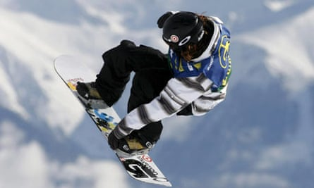 Snowboarder Shaun White, who first performed the double cork