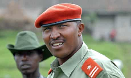 Bosco Ntaganda, the leader of the Congo rebels, at his mountain base in Kabati