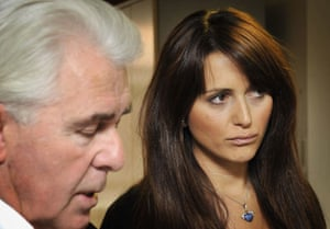 24 Hours in Pictures: Model Vanessa Peroncel listens as Max Clifford reads a statement in Mayfair
