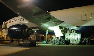 The Delhi Airlines jet that had a body in its landing wheel compartment