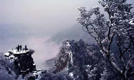 Snow covers Shennong mountain, China