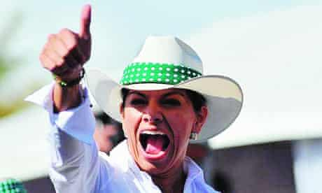 Laura Chinchilla claimed 47% of the vote, becoming Costa Rica's first woman president