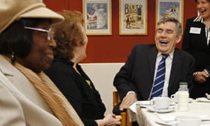 Brown visits east London