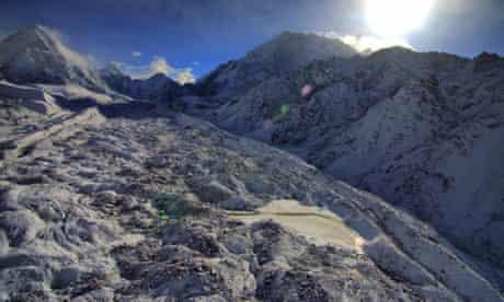 khumba glacier himalayas