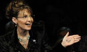 "Sarah Palin ""Hi mom"" hand writing"