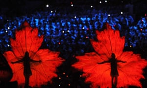 Olympics : Dancers during the closing ceremony