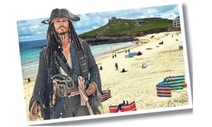 Johnny Depp in St Ives photomontage