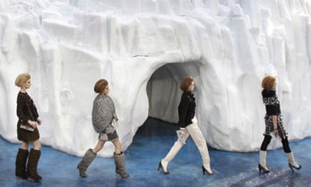 Models present creations by Karl Lagerfeld for Chanel during the autumn-winter 2010/2011
