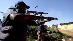 Violence in Pretoria: Tshwane metro police at the protests
