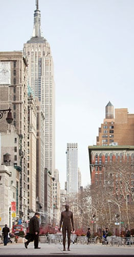 Antony Gormley: A preview of the statue by Antony Gormley by the Empire State Building
