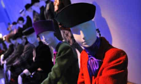 Mannequins wearing creations by Yves Saint-Laurent