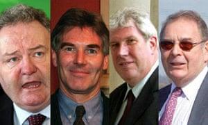 Jim Devine MP, David Chaytor MP, Elliot Morley MP and Conservative peer Lord Hanningfield.