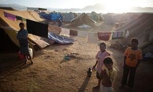 Children in al-Mazraq camp for internally displaced Yemenis
