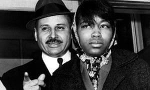 Percy Sutton with Betty Little Shabazz in 1965