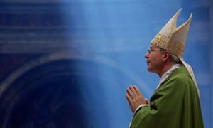 Christoph Schonborn, Archbishop of Vienna celebrates a mass.