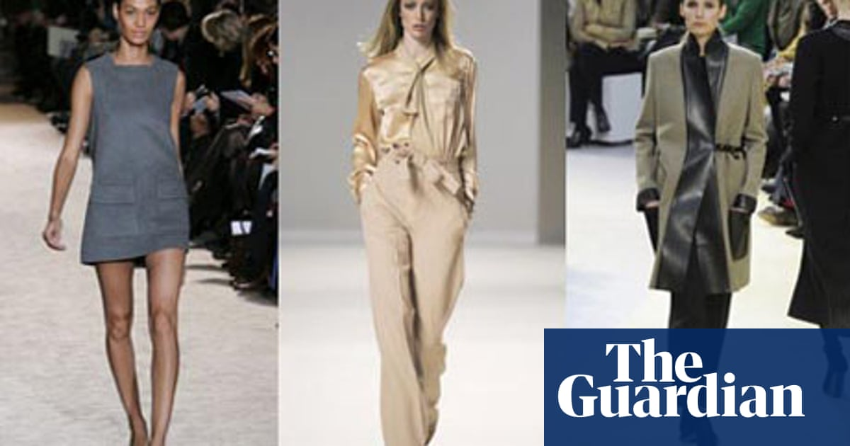 A New Minimalism On The Paris Catwalks Paris Fashion Week The Guardian