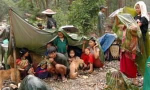 Karen villagers from Burma