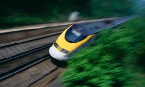 high speed train Eurostar Kent UK