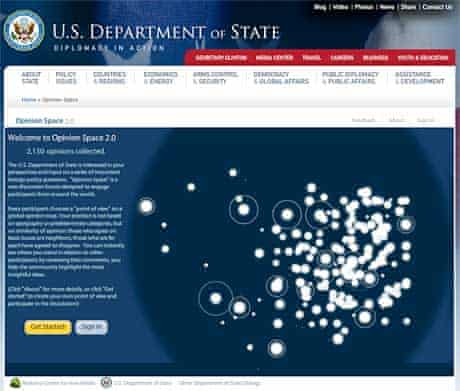 The Opinion Space web application at the US State Department