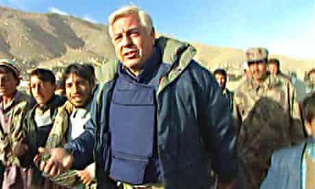 Simpson goes into Kabul, 2001.