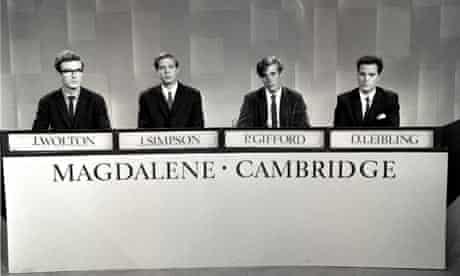 On University Challenge, 1965.