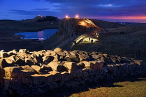 Hadrian's Wall: Crag Lough, Steel Rigg near the Once Brewed visitor centre