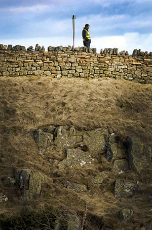 Hadrian's Wall: Volunteers wait to light beacons along Hadrian's Wall at Steel Rigg