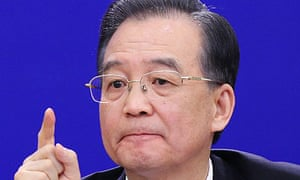 Wen Jiabao during his annual press conference after the National People's Congress