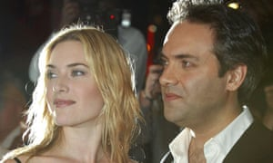 Sam Mendes and actress Kate Winslet arrive at the London premiere of The Road to Perdition in 2002.