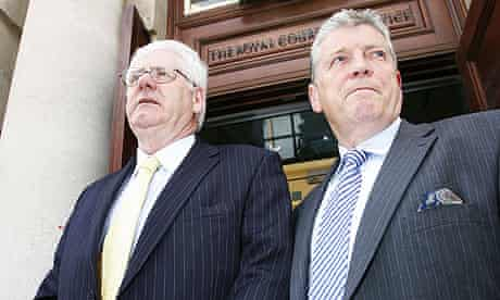 Michael Gallagher and Stanley McCombe who lost their son and wife respectively in the Omagh bombing