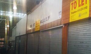 leeds kirkgate market closed stalls