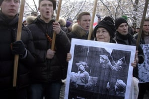Legionnaires' Day Latvia: Counter-demonstrators protest against Legionnaires' Day events