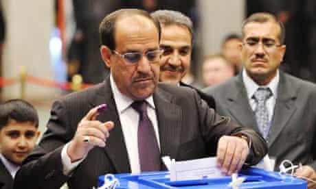 Iraqi prime minister Nour al-Maliki