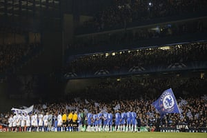 Chelsea v Inter: The teams line up at Stamford Bridge