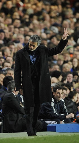 Chelsea v Inter: For once Jose Mourinho looks almost modest as he gives his team directions