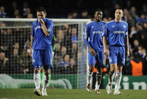 Chelsea v Inter: Lampard, Mikel and Terry are dejected at the final whistle