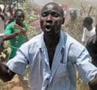 Baganda protest at Kasubi tombs in Kampala, Uganda