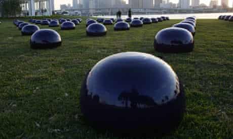 Ai Weiwei's Porcelain bubbles.