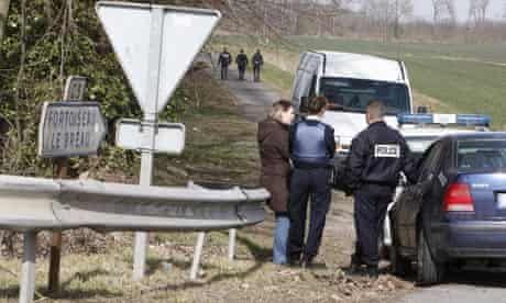 French police guard suspected Eta killing scene