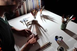 Disappearing Acts: Master calligrapher Paul Antonio in his calligraphy studio